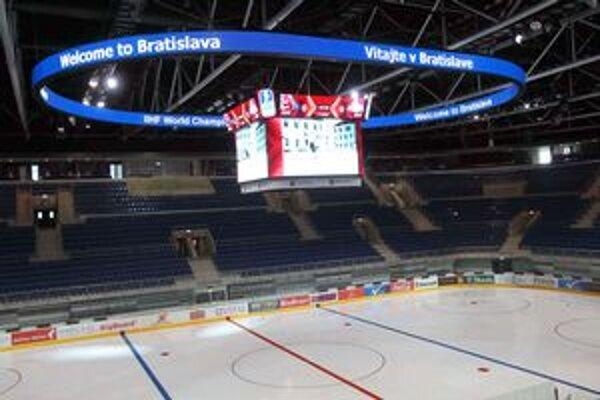 Bratislavská aréna má modernú HD informačnú kocku.