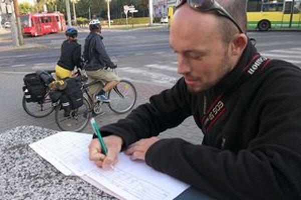 Cyklokoalícia sčítavala cyklistov.
