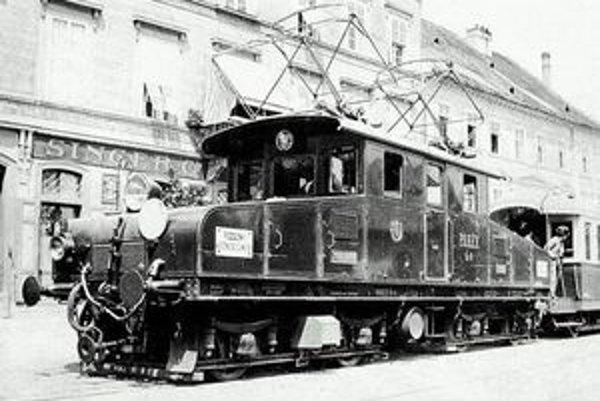 lokomotívy GANZ Eg 6 bratislavského úseku Viedenskej električky.
