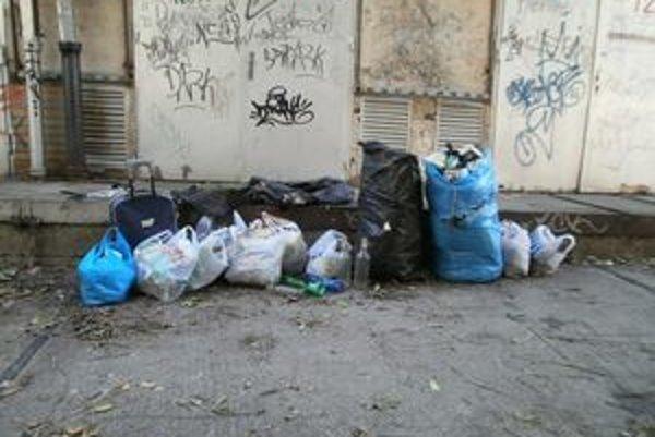 Dobrovoľníci nazbierali niekoľko vriec odpadu.