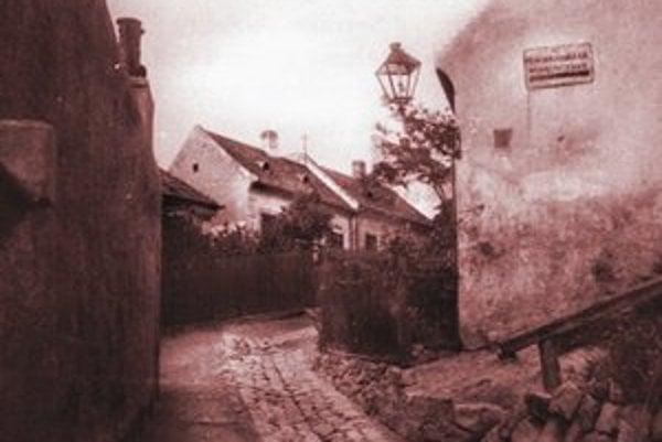Bubenkova ulica smerom k Mudroňovej, vpravo Vinohradnícka. Z roku 1940.