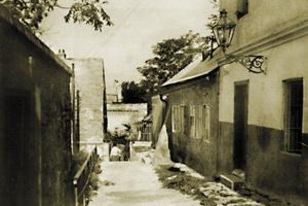 Koniec Floriánskej ulice z roku 1940.