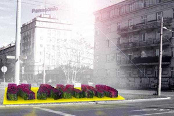 Kvetinový záhon v tvare reklamného nápisu či loga ocenia obyvatelia iste viac ako obyčajný billboard.