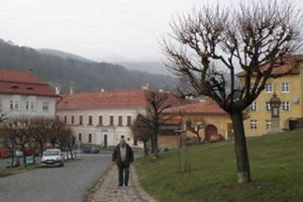 Javorové aleje sú súčasťou námestia už desiatky rokov. Časť Kremničanov s ich výrubom nesúhlasí.