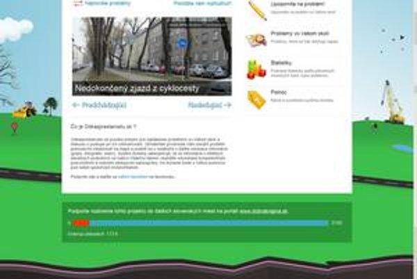 Titulná stránka nového komunálneho webu, ktorý má spojiť občanov s úradmi.