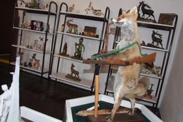 Líška v sekcii poľovníctva upúta na prvý pohľad.
