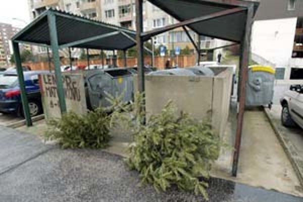 Po včerajšku začnú pri kontajneroch pribúdať vyhodené stromčeky, skončia v kompostárni.
