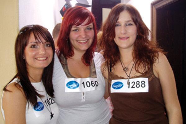 Iva, Vladka a Zuzka počas kastingu do SuperStar.