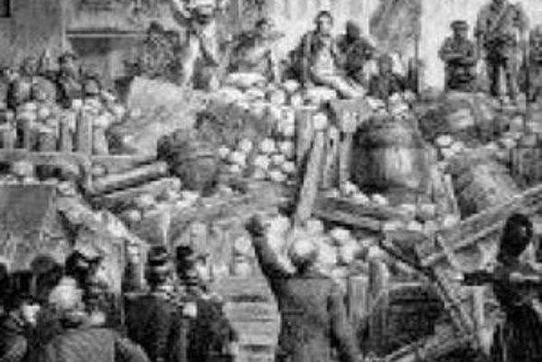 Porážka Maďarov pri Világoši v roku 1849.