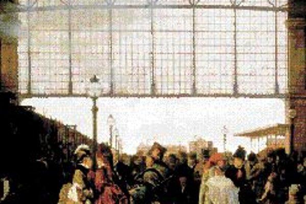 Príchod vlaku na severnú stanicu vo Viedni, 1875.