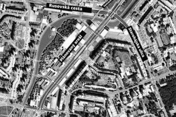 """Plánované petržalské """"city"""" z jednej strany ohraničuje Rusovská cesta. Bulvár bude nadväzovať na Jantárovú cestu a má ním viesť štvorprúdová cesta pre autá, dráha električky a chodníky."""