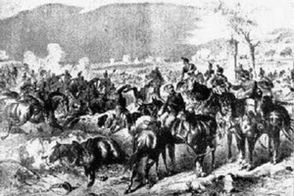 Výjav z bitky pri Lamači.