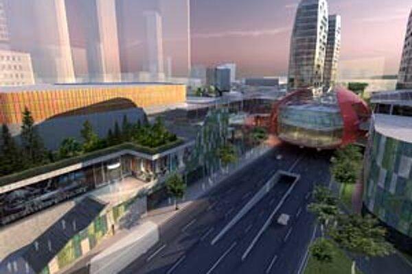 Na novej vizualizácii Twin City je zakreslené väčšie množstvo zelene ako v pôvodnej verzii, kde bola zväčša na strechách a v interiéroch.