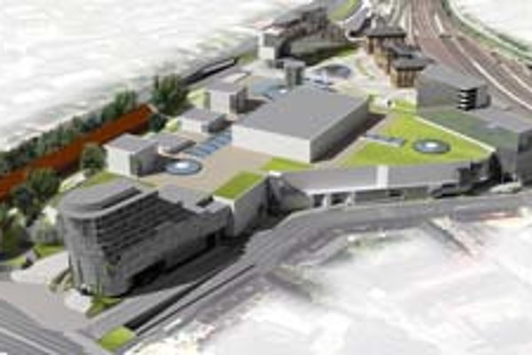 Na vizualizácii je podoba námestia po prestavbe, šípkou je označená historická budova stanice.