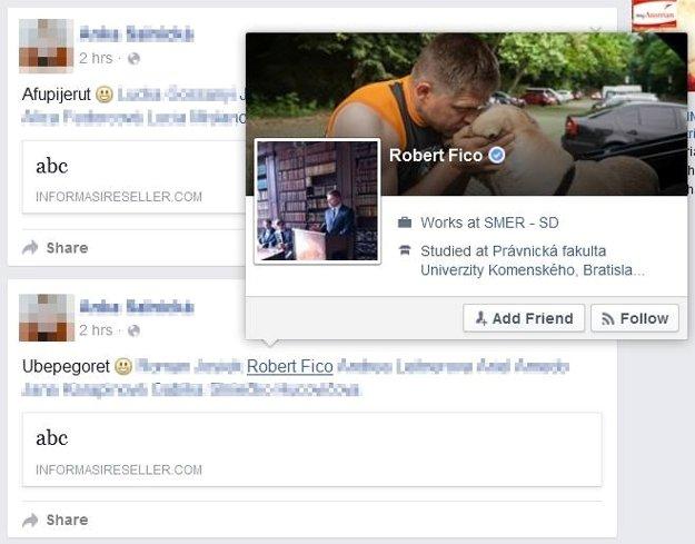 Správcovia facebookového profilu premiéra Róberta Fica na lacný trik nenaleteli.
