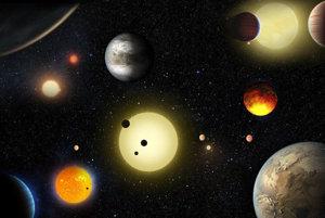 Vizualizácia ukazuje niektoré planetárne objavy Keplerovho vesmírneho teleskopu.