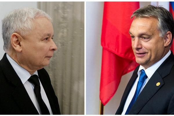Jarosław Kaczyński a Viktor Orbán.