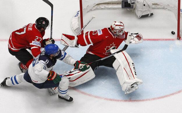 Hokejisti Kanady prehrali s Fínskom 0:4.
