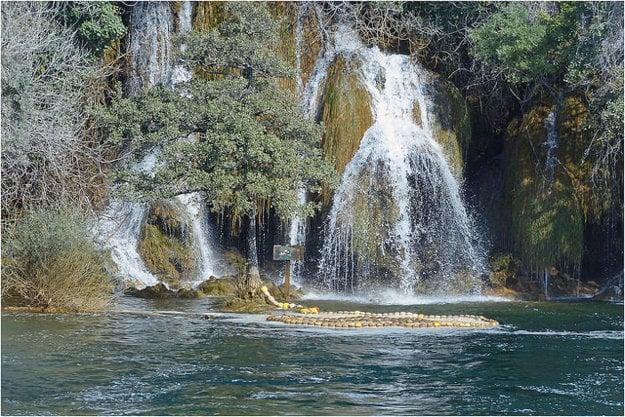 Vodopády v národnom parku Krka