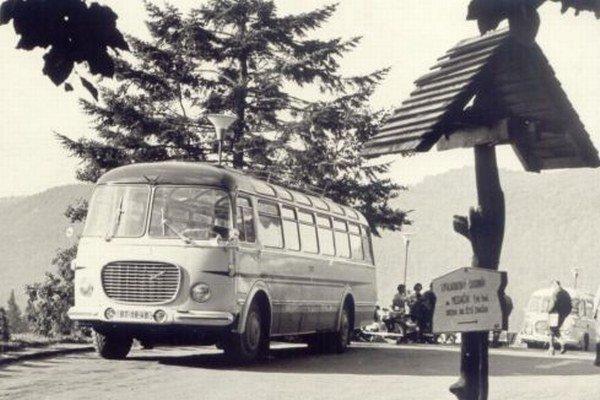 ŠKODA 7O6 RTO na Táľoch v 60. rokoch minulého storočia.
