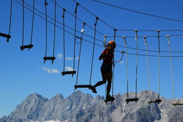 Na dovolenke v Rakúsku možno zažiť aj množstvo adrenalínových zážitkov.
