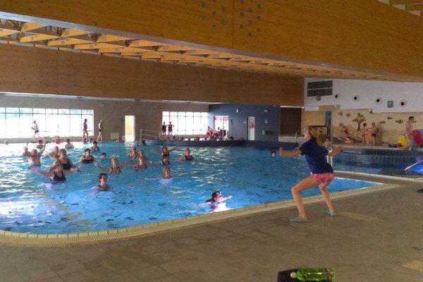 Aqua gym v Kováčovej.