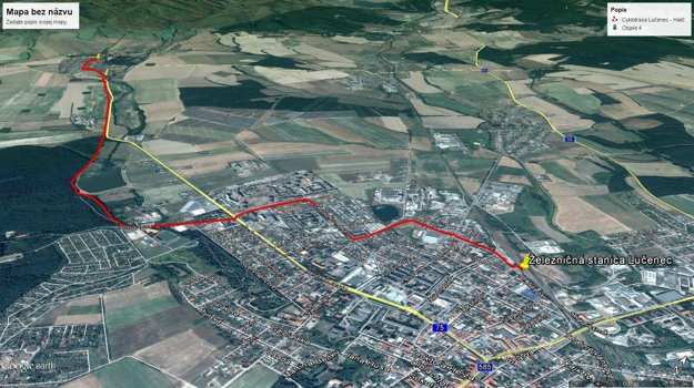 Cyklocesta Lučenec - Halič.