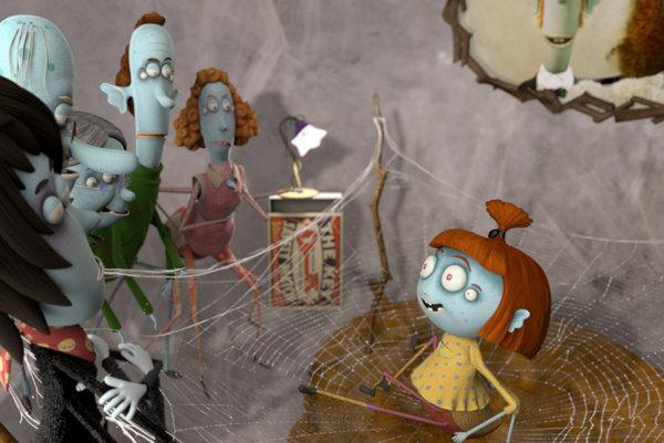 Lili s pavúčou rodinou. Babka Matilda, dedo Rafael, brat Hugo, mama Alma, žena v domácnosti, otec Walter, živiteľ rodiny.