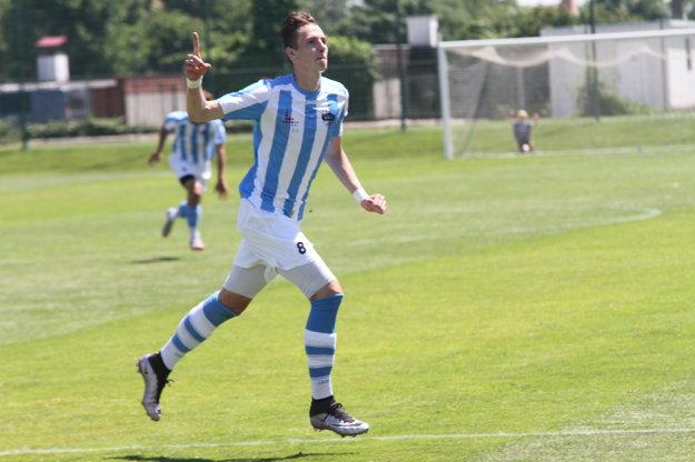 Filip Balaj sa raduje z jedného zo svojich dvoch gólov.