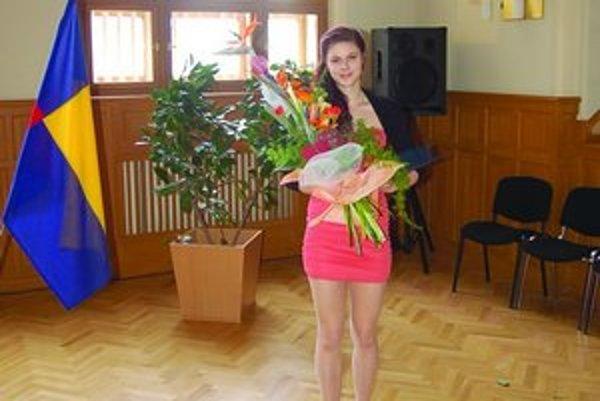 Levičanka Lucia Nikmonová po odovzdaní ocenenia v Nitre.