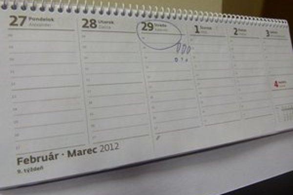 Tento rok je priestupný, v kalendári je 29. február.