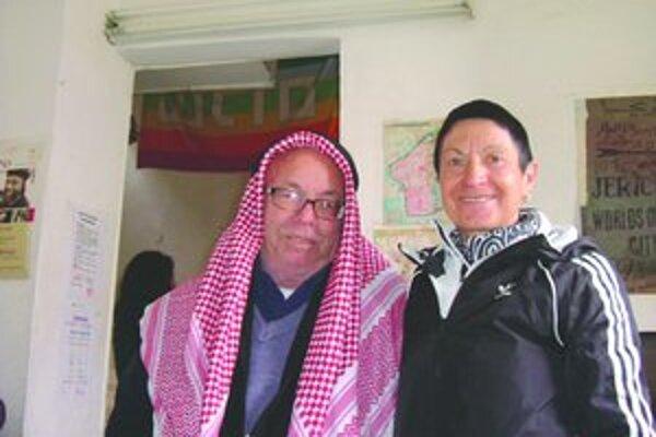 Eva Seidlová s ambasádorom dobrej vôle a mieru vo svete, ktorý žije na Olivovej hore v Izraeli.