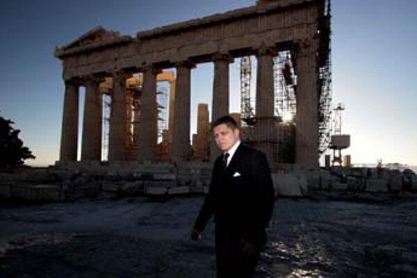 Fico bol tento týždeň na návšteve v Grécku.