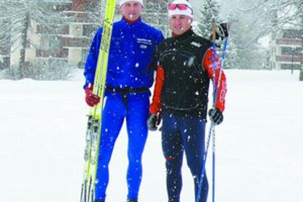Ľuboš Križko (vľavo) so svojím sparingpartnerom v St. Moritzi.