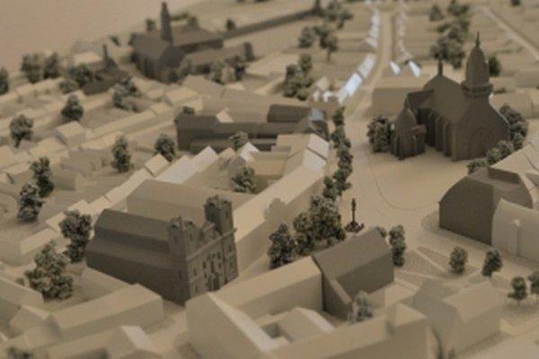 Model mesta Skalica v Prahe.
