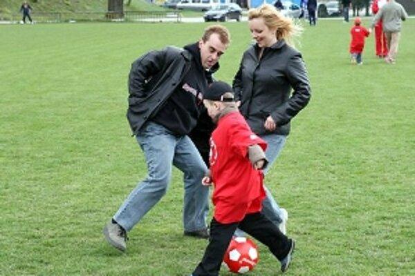 Rodinný futbal.