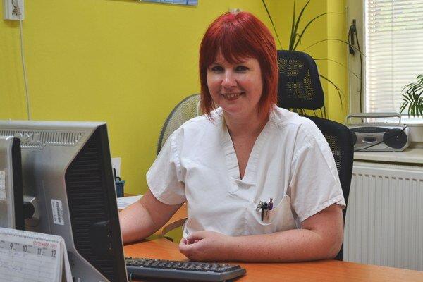 Eva Mrázová, vedúca lekárka Oddelenia radiačnej onkológie Všeobecnej nemocnice Komárno.