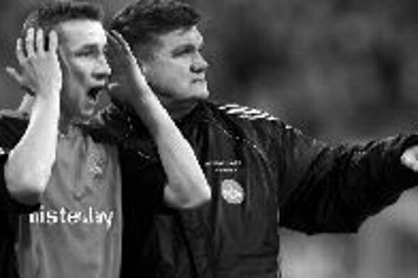 Marek Mintál s trénerom FC Norimberg Hansom Meyerom.