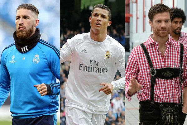 Sergio Ramos, Cristiano Ronaldo, Xabi Alonso