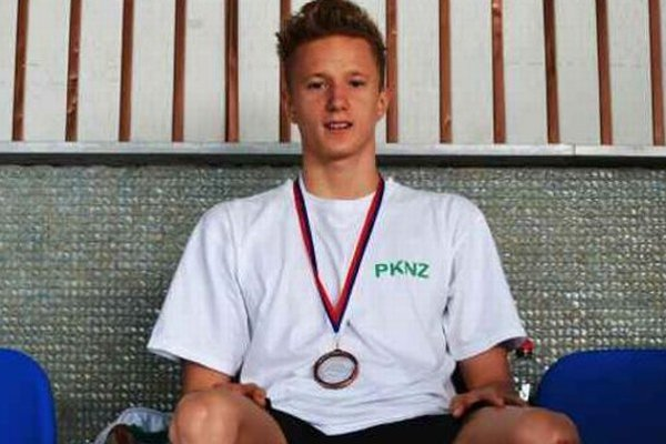 Adam Pilek - držiteľ bronzovej medaily na GP Slovakia 2014 na 200m znak.