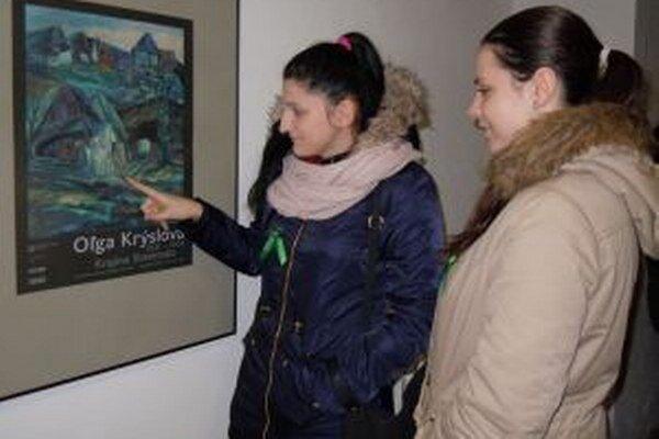 Študentky v Turčianskej galérií.