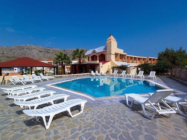 Hotel Sun Beach Lindos(3*) na gréckom ostrove Rhodos.