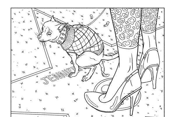Ilustrácia z knihy Bait.