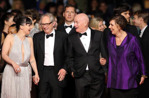 Dave Johns a režisér Ken Loach (vľavo) na festivale v Cannes.