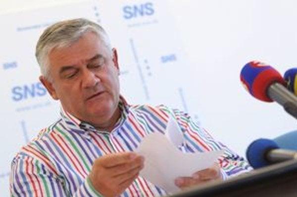 Predseda SNS Ján Slota.