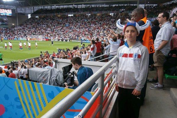 Marián Weber na štadióne v Saint-Étienne.