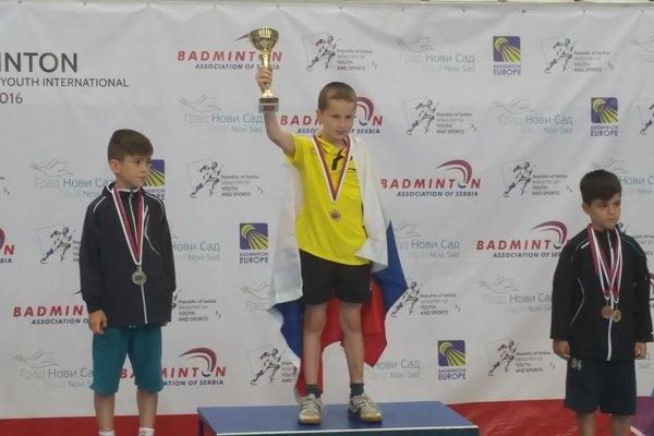 Andrej Suchý (na prvom mieste) víťazom kategórie U 9.