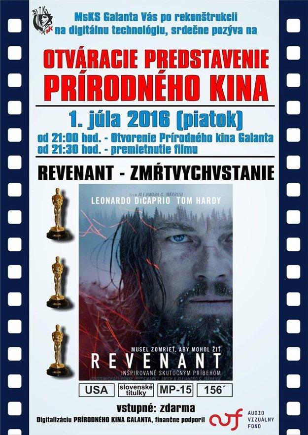 Pozvánka na prvý film Revenant.