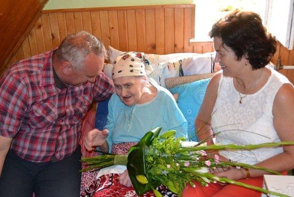 Najstaršia obyvateľka Turzovky sa dožila 96. rokov.