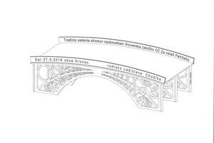 Náčrt najstaršieho mosta v Hronci - rodisku herca Ladislava Chudíka.